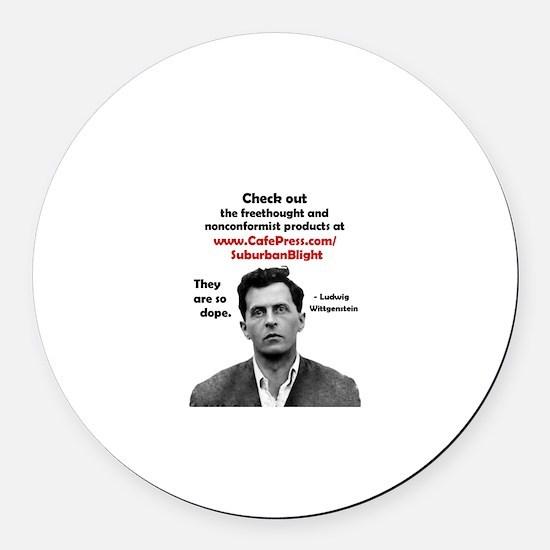 """""""Wittgenstein for Suburban Bl Round Car Magnet"""