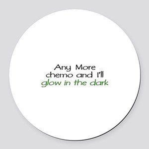 Chemo - Glow in the Dark Round Car Magnet