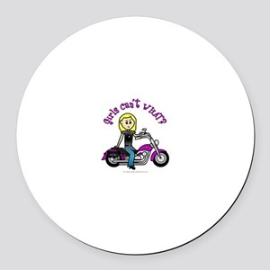 Custom Biker Round Car Magnet