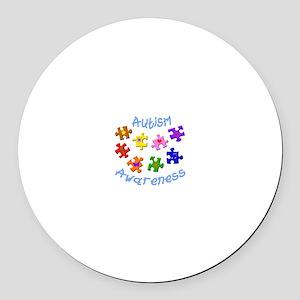 Autism Awareness Round Car Magnet