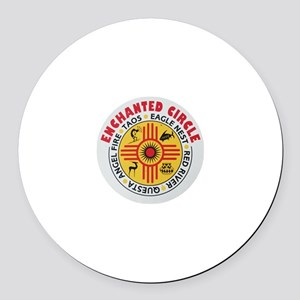 New Mexico's Enchanted Circle Round Car Magnet