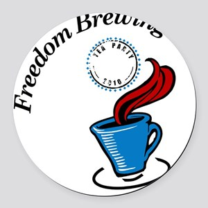 Freedom Brewing Round Car Magnet
