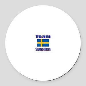 Team Sweden Round Car Magnet