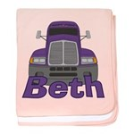 Trucker Beth baby blanket