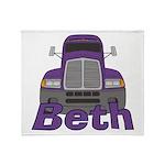 Trucker Beth Throw Blanket