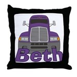 Trucker Beth Throw Pillow