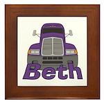 Trucker Beth Framed Tile