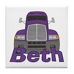 Trucker Beth Tile Coaster