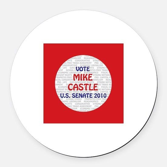Mike Castle Round Car Magnet