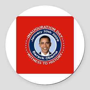 Obama Inauguration Day Round Car Magnet
