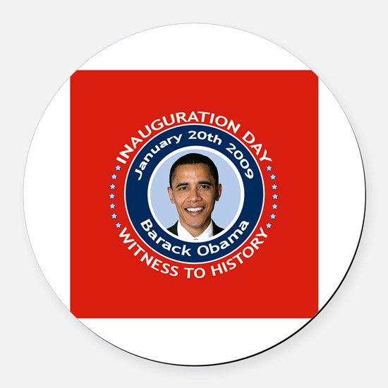 Obama Inauguration Day Round Car Magnet