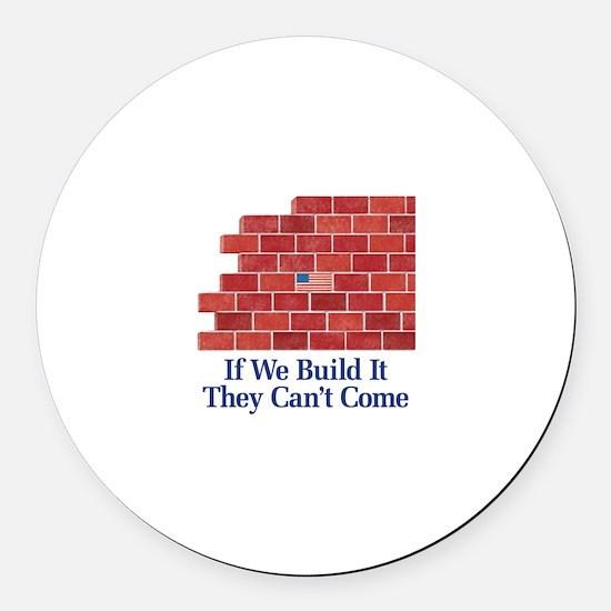 Brick Wall Round Car Magnet