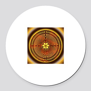 Chartres Labyrinth Fire Round Car Magnet