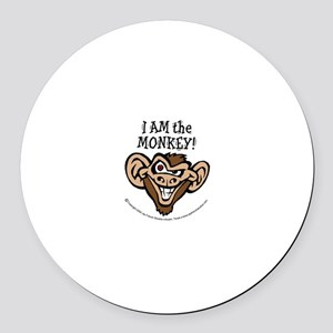 Monkey Round Car Magnet