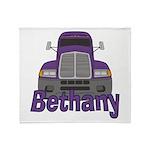 Trucker Bethany Throw Blanket
