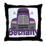 Trucker Bethany Throw Pillow