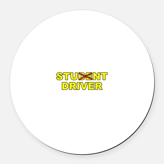 Student Stunt Driver Round Car Magnet