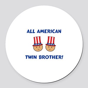 All American Brother Round Car Magnet