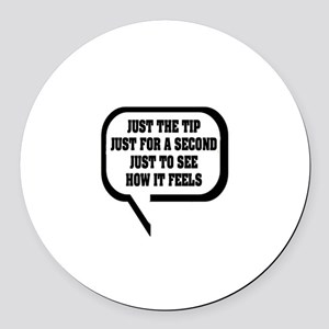 """""""Awkward Proposition"""" Round Car Magnet"""