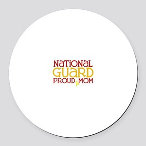 NG Proud Mom Round Car Magnet