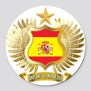 Spain world cup champions Round Car Magnet