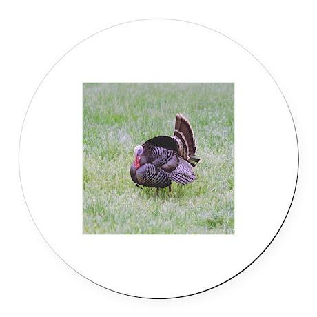 Male Turkey Round Car Magnet