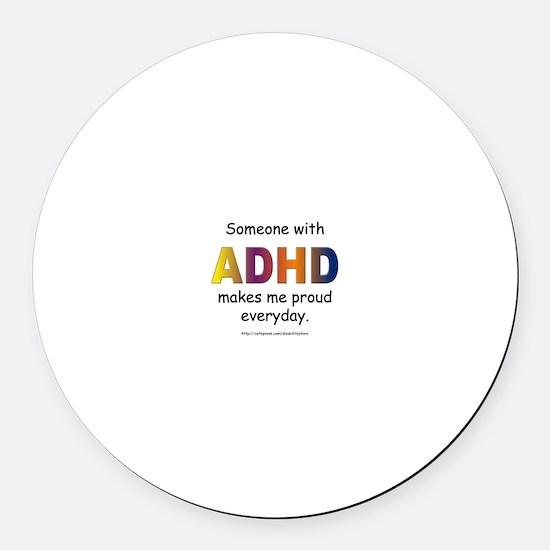 ADHD Pride Round Car Magnet