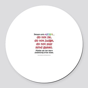 No Games (People) Round Car Magnet