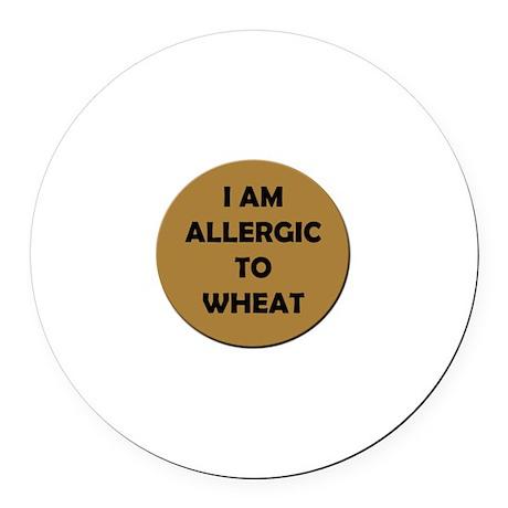 Wheat Allergy Round Car Magnet