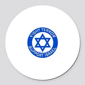 I Support Israel Round Car Magnet