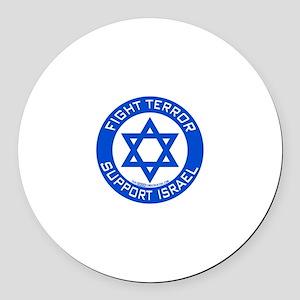 I Support Israel Round Car Magnet
