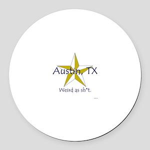Austin is Weird Round Car Magnet