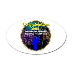 Graduation: 0003d 22x14 Oval Wall Peel
