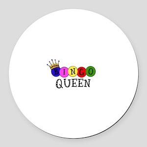 Bingo Queen Round Car Magnet