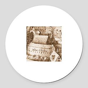 The Globe Theatre Round Car Magnet