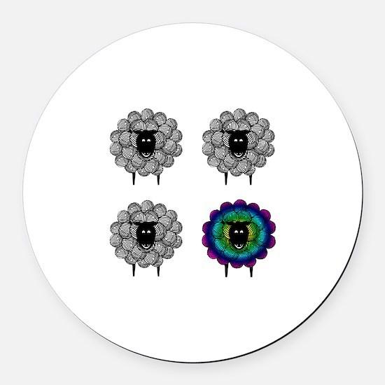Unique Sheep Round Car Magnet