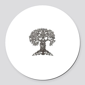 The Reading Tree Round Car Magnet