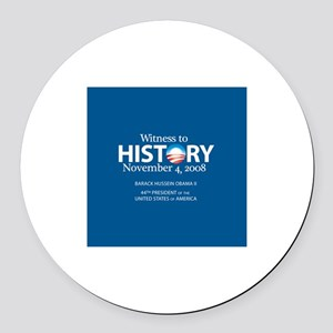 """""""Witness History 08"""" Round Car Magnet"""