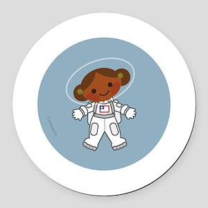 Space Suit Round Car Magnet