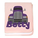 Trucker Betty baby blanket