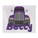 Trucker Betty Throw Blanket