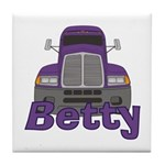 Trucker Betty Tile Coaster