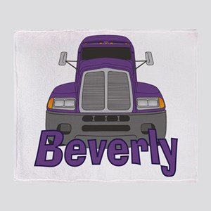 Trucker Beverly Throw Blanket