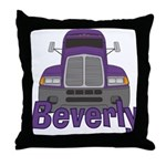 Trucker Beverly Throw Pillow