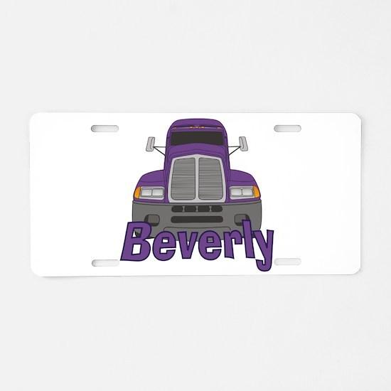 Trucker Beverly Aluminum License Plate
