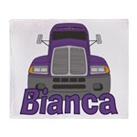 Trucker Bianca Throw Blanket