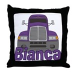 Trucker Bianca Throw Pillow