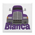 Trucker Bianca Tile Coaster