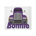 Trucker Bonnie Throw Blanket
