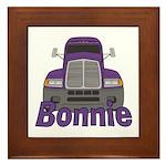 Trucker Bonnie Framed Tile